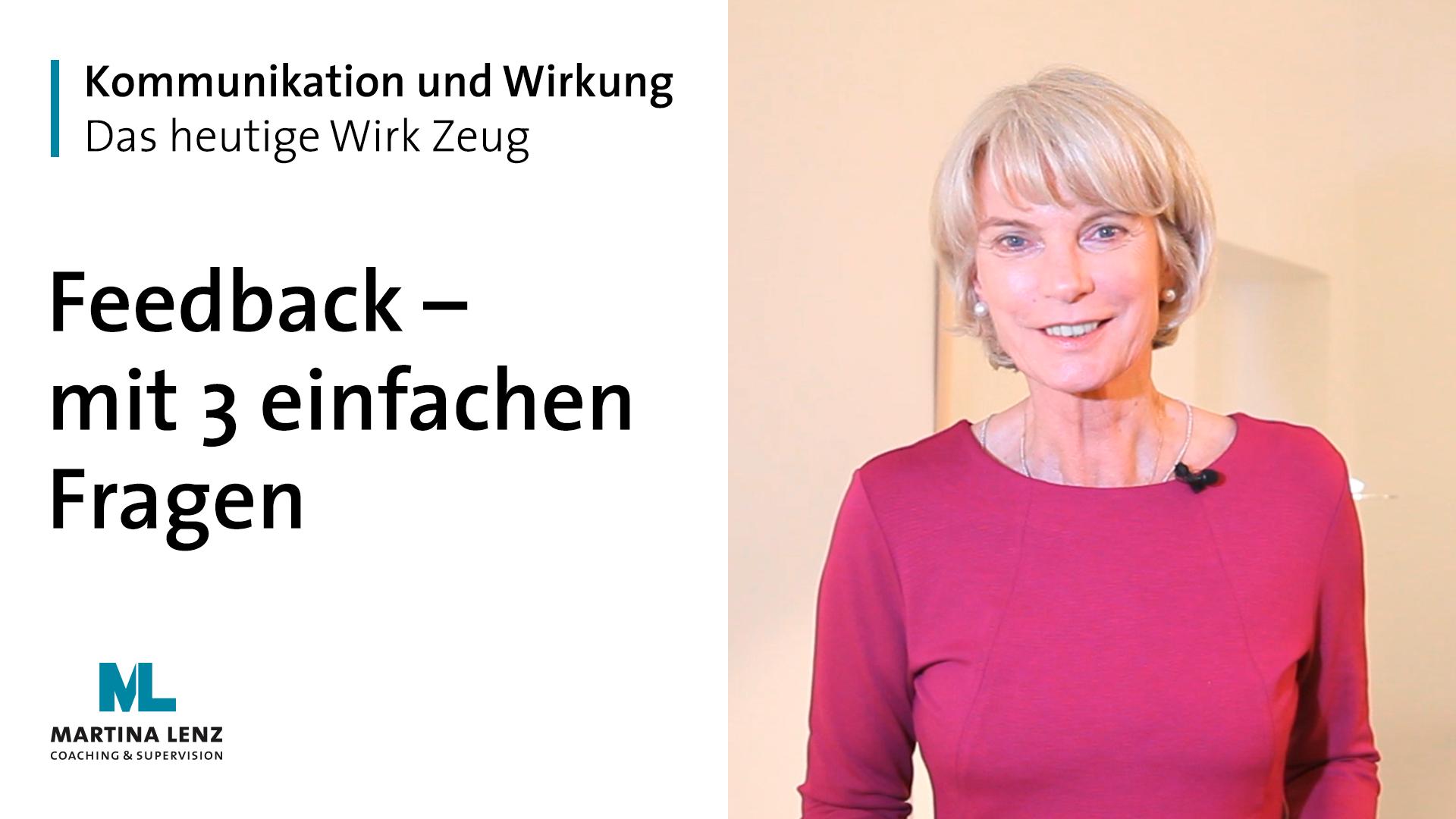 """WIRK ZEUG """"Feedback – mit 3 einfachen Fragen"""""""